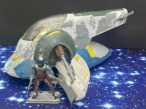 STAR WARS AOTC  ACTION FIGURE VEHICLE JANGO FETT'S SLAVE 1 & JANGO