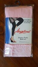 Angelina 2 pairs Footless Tights with Lace Pink Dance B8301 one size BNWT (4)