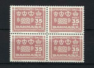 Denmark 1964 Sc# 413 Denish watermarks and perforations block 4 MNH