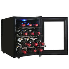 12 Bottles Counter Top Temperature Control Thermoelectric Wine Cooler Cellar