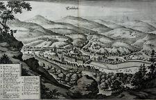 KARLSBAD KARLOVY VARY TSCHECHEI KUPFERSTICH ANSICHT LEGENDE MERIAN 1650