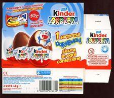 KINDER Surprise, 2004 ITALIANO KINDER surpresa SCATOLA VUOTA # 8327