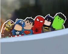 "Marvels Avengers Batman Super Heroes hitch hike decal sticker Vinyl  (2.0""x9.5"")"