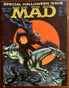 MAD MAGAZINE #59- FINE - Special Halloween Issue - Dec 1960