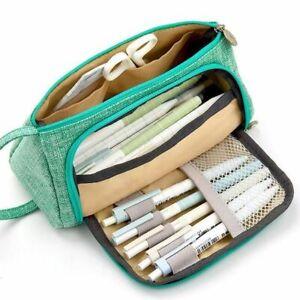Pencil Case Large Capacity Pencilcase School Case Supplies Bag Pouch Many Colors
