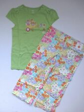 Gymboree Butterfly Blossoms Wheelbarrow Tee & Floral Capri Pants Set Girls 9 NWT