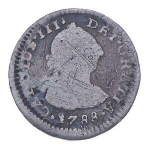 Pirate Treasure 1788 Colonial Peru 1/2 Real *634