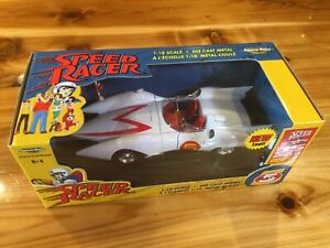 ERTL American Muscle 1:18 Scale Speed Racer MACH 5  Diecast Car set NEW in BOX