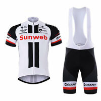 2017 Mens New MTB Cycling Short Sleeve Jersey bib Shorts Size S/M/L/XL/XXL/XXXL