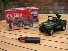 Radio Shack Jeep US Army Remote Controlled 4x4 1980s Collectable Global Shipping