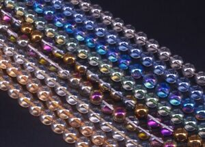 """Angel Aura Top Quality Czech Crystal Round Beads 4mm 6mm 8mm 10mm 12mm 15.5"""""""