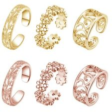 Band Womens Foot Beach Body Jewelry 3pcs/set Silver Vintage Toe Ring Adjustable