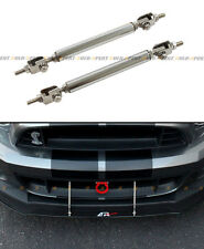 Chrome Adjustable Bumper Lip Splitter Strut Rod Bar For Subaru Impreza WRX STi