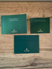 rolex submariner / Date Booklet + Leather Card Holder Authentic