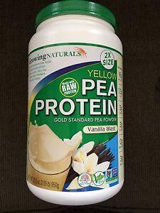 GROWING NATURALS -Yellow Pea Protein- VANILLA BLAST - 33.5oz!