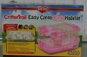 Brand New Kaytee CritterTrail Easy Clean Pink Habitat Distressed Box