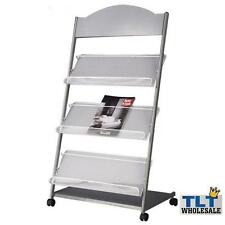 Multi-Layers Magazine Stands Brochure Holder Rack Wheels Display Office Home 1