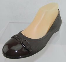 Women's Ecco Touch 15 Brown Ballerina Backle Flats Size 39 US 8.5 M NEW
