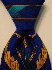 RUSH LIMBAUGH No Boundaries Mens 100% Silk Necktie Geometric Blue/MultiColor GUC