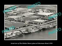 OLD LARGE HISTORIC PHOTO FISHERMANS BEND HOLDEN GMH CAR PLANT AERIAL VIEW c1950