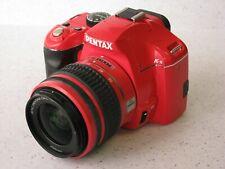 PENTAX Pentax  K-x 12.4MP Digital SLR Camera - Red (Kit w/ AL 18-55mm Lens)