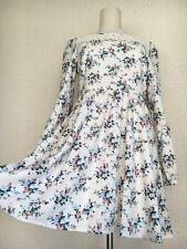 1298.INGNI Japanese popular brand cream-color floral pattern dreamy cute dress