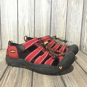 KEEN Kids Sandals Red Black Washable Water Proof Shoes Size 4 Youth Hiking