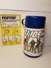 1985 Gi Joe plastic thermos Bottle by Aladdin. With original instructions.