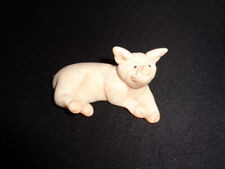 Quarry Critters Patch the Pig Stone Figure - Second Nature Design 2000