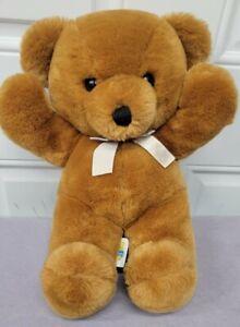 "VINTAGE DAKIN CUDDLES 1979 Brown Teddy Bear Plush Stuffed Animal Toy 14"""