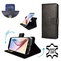 Mobile Phone Genuine Leather Case For MEDION LIFE P5005 - 360 Black M
