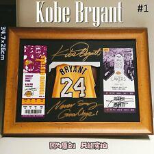 🟣🟡 Kobe Bryant Tribute Photo Frame #Black Mamba🐍 #Lakers #Signature #Tix Stub