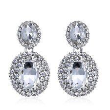 Crystal Stud Round Drop Wedding Bridal Dangle Earrings Gift Jewelry Fashion