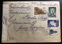 1943 Klaipėda Lithuania Russia USSR Censored Cover To Prague Czechoslovakia