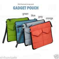 Gadget Pouch Multi Functional Storage Organizer For Ipad Tablets Cosmetics(Blue)