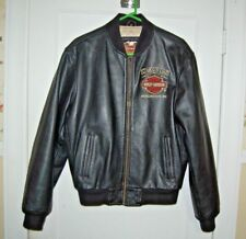 Harley Davidson Leather dealer  Embroidered Jacket . Size Small medium NC