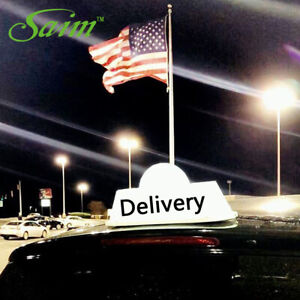 37cm Cab Sign Delivery Logo Car Top Lights Taxi Driver Sign Strong Magnet USB