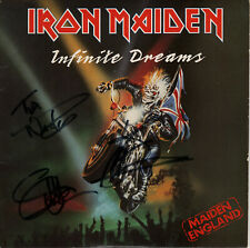 "Iron Maiden Signed Infinite Dreams 7"" Vinyl EMS 117  1989"