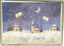 Christmas Holiday Cards Angels Above Us Snowman 18 count New