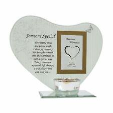 Someone Special Photo Frame Tea Light Holder Glass Memorial Plaque Ornament