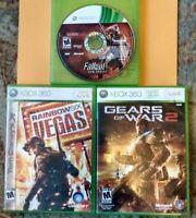 Xbox 360 Shooter Games (Gears Of War, Rainbow Six: Vegas, Fallout: New Vegas)