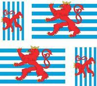 4 x Autocollant sticker voiture moto drapeau luxembourg lion
