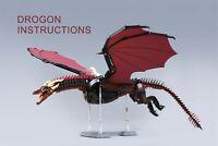 LEGO MOC | PDF Instructions (NO BRICKS) - Fire Dragon (Game of Thrones)