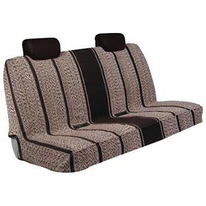 Black Saddle Blanket Bench Seat Cover
