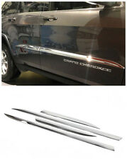 4pcs Chrome Side Door Body Molding Trim For Jeep Grand Cherokee 2013 2014 2015