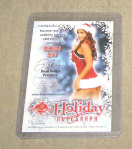 MELISSA RISO 2014 Benchwarmers Holiday Autograph Card - Pink Archive