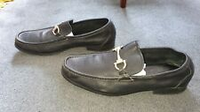 Salvatore Ferragamo Gancini leather loafers Slip on Buckle MS44174  UK 10 EU 44