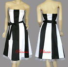 Black/White Red/White Cocktail Dress Size 8 10 12 14 16 18 20 22 24 New