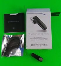Plantronics Explorer 505 Bluetooth Wireless Headset Black Used Hd Clarity #Expo5