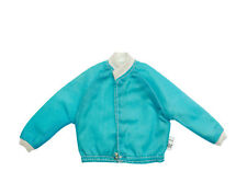 Barbie Doll KEN Aqua Blue Windbreaker Jacket Coat Top Vintage 1970s Mattel Tag